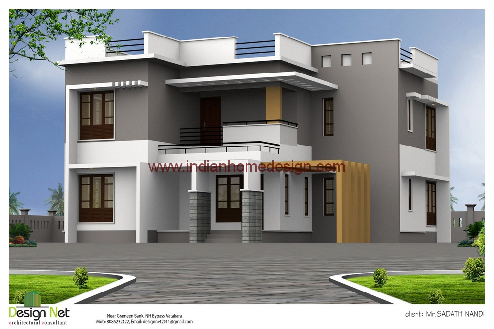 Individual model 31 x 55 flat promoters builders for Indian house elevation photo gallery