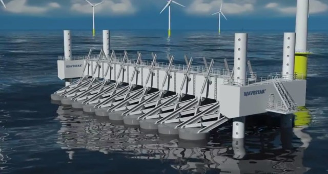 Kinetic Wave Power Station