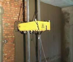 Wall plastering using machine