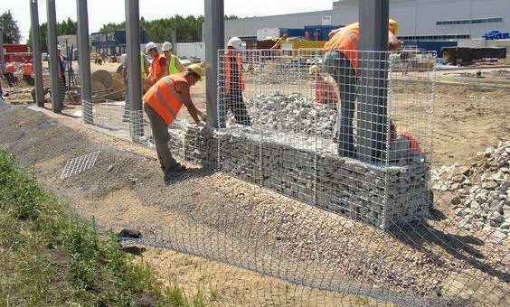 Steel Stone Cage Work
